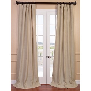 Exclusive Fabrics Natural French Linen Lined Curtain Panel - Free ...