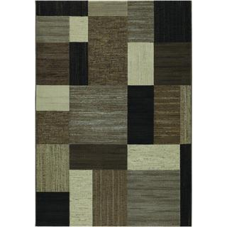 Geometric Brown/Multi Rug (7'10 x 11'2)