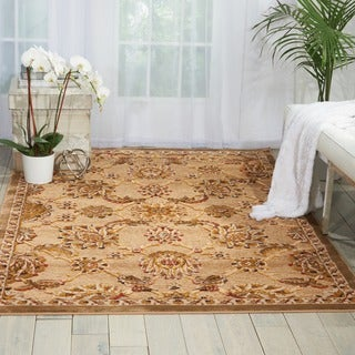 kathy ireland Lumiere Royal Countryside Beige Area Rug by Nourison (3'6 x 5'6)