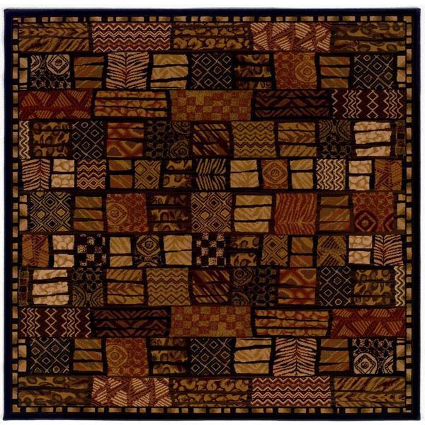 """Everest Cairo Midnight Square Area Rug - 5'3"""" Square"""