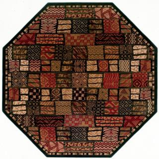 Everest 'Cairo' Midnight Octagon Rug (3'11)