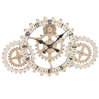 Casa Cortes 'Gear Up' Time Wide Wall Clock