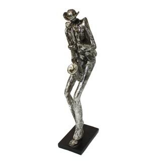 New Orleans Mardi Gras 19-inch Jazz Saxophone Musician Figurine