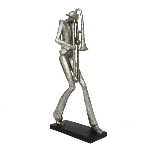 Mardi Gras 20-inch Jazz Trombone Musician Figurine