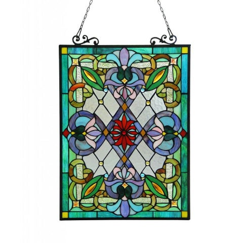 Chloe Tiffany-style Victorian Design 'Tree of Life' Window Panel - n/a