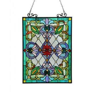 Chloe Tiffany-style Victorian Design 'Tree of Life' Window Panel https://ak1.ostkcdn.com/images/products/8433091/Tiffany-Style-Victorian-Design-Window-Art-Glass-Panel-P15729321.jpg?impolicy=medium