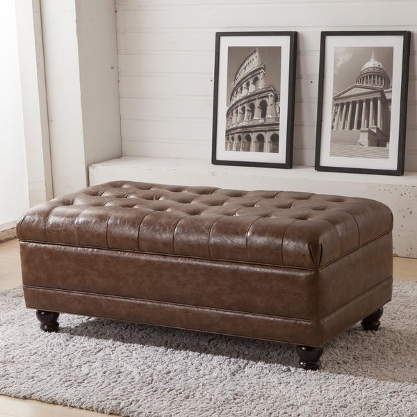 shop classic tufted storage bench ottoman on sale free shipping today overstock 8433102. Black Bedroom Furniture Sets. Home Design Ideas