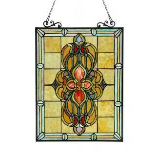 Chloe Tiffany Style Victorian Design Window Art Glass Panel