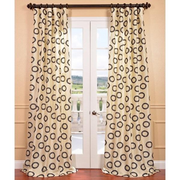 Exclusive Fabrics Luna Winter Flocked Faux Silk Curtain