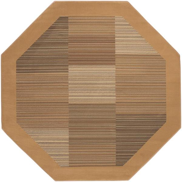 "Everest Hamptons Sahara Tan Octagon Area Rug - 5'3"" octagon"
