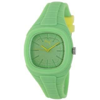 Puma Women's Active PU102882007 Green Silicone Quartz Watch with Green Dial