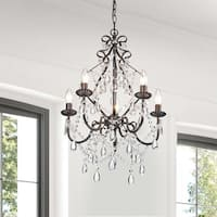 The Lighting Store Bethany 5-Light Iron and Crystal Candle Chandelier