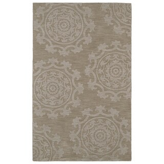 Trends Suzani Light Brown Wool Rug (8'0 x 11'0)