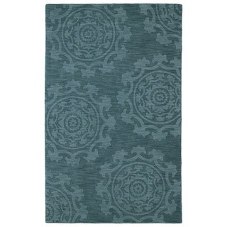 Trends Suzani Turquoise Wool Rug (2'0 x 3'0)
