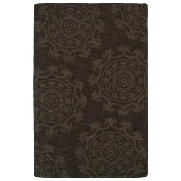 Trends Suzani Chocolate Brown Wool Rug