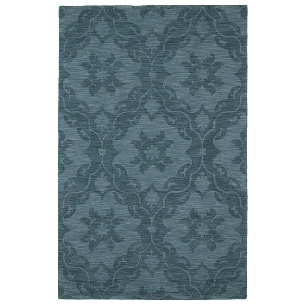 Trends Turquoise Medallions Wool Rug (2'0 x 3'0) - 2' x 3'
