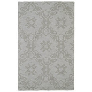 Trends Light Taupe Medallions Wool Rug (2'0 x 3'0)