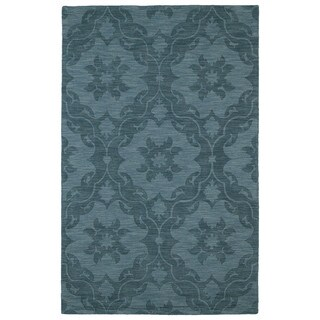 """Trends Turquoise Medallions Wool Rug (9'6 x 13'6) - 9'6"""" x 13'6"""""""