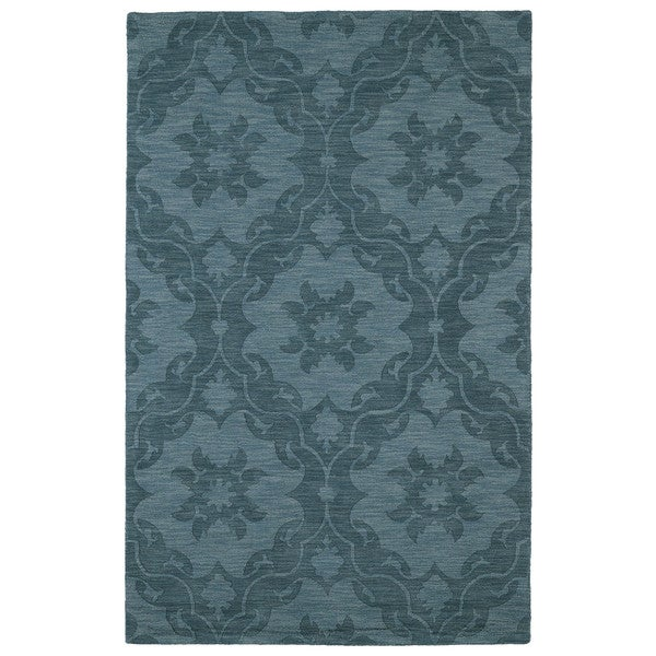Trends Turquoise Medallions Wool Rug - 9'6 x 13'6