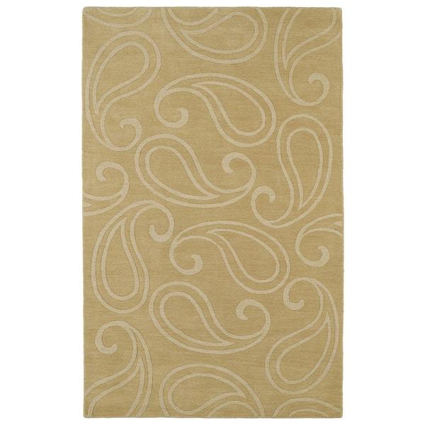 Trends Yellow Paisley Wool Rug - 8'0 x 11'0