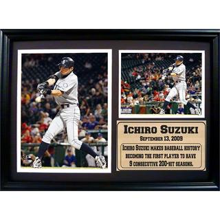 Seattle Mariners Ichiro Suziki 12 X 18-inch Photo Stat Plaque