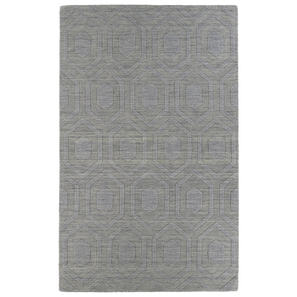 Trends Steel Grey Loft Wool Rug - 5' x 8'