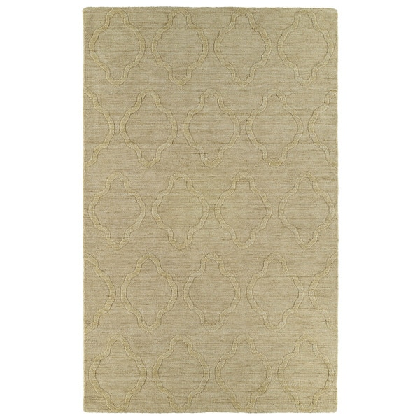 Trends Yellow Prints Wool Rug - 5' x 8'