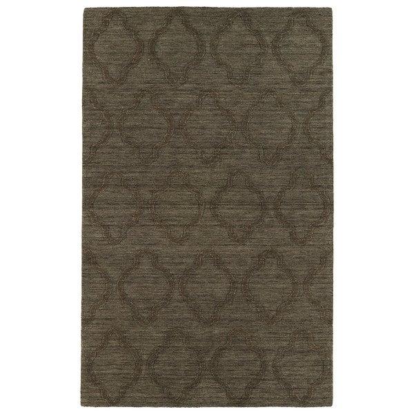 Trends Chocolate Brown Prints Wool Rug - 9'6 x 13'6