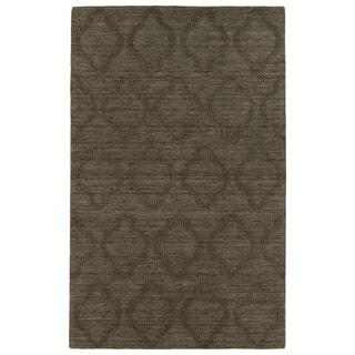 Trends Chocolate Brown Prints Wool Rug (9'6 x 13'6)