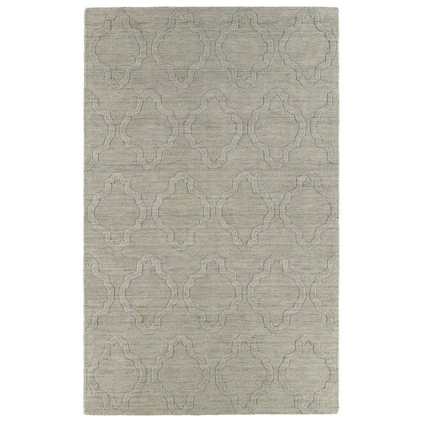 Trends Oatmeal Prints Wool Rug (8' x 11')