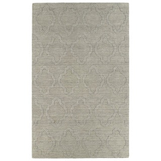 Trends Oatmeal Prints Wool Rug (9'6 x 13'6)