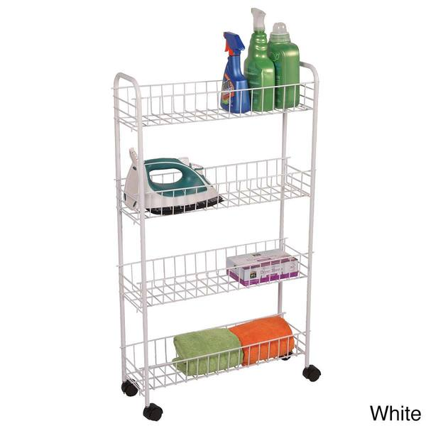 Shop 4 Tier Rolling Bath Storage Cart Free Shipping On