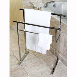 European Pedestal Chrome Bath Towel Rack