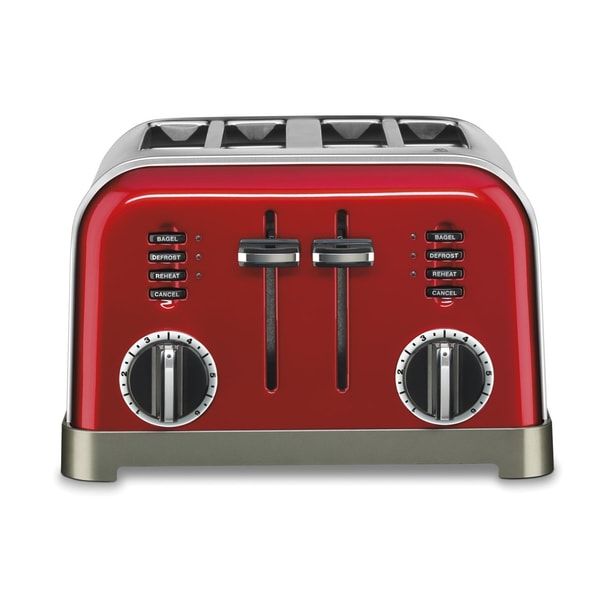 Cuisinart CPT180MRFR 4-Slice Metal Classic Toaster - Red (Refurbished)