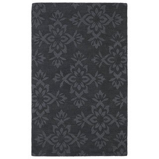 Trends Charcoal Damask Wool Rug (9'6 x 13'6)