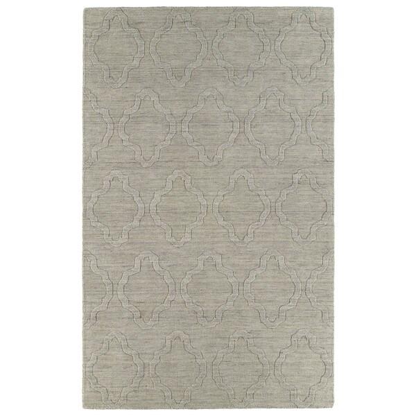 Trends Oatmeal Prints Wool Rug - 5' x 8'