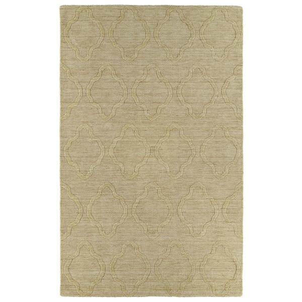 Trends Yellow Prints Wool Rug - 9'6 x 13'6