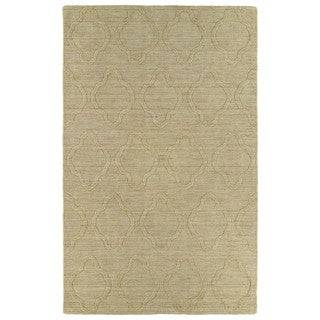 Trends Yellow Prints Wool Rug (9'6 x 13'6)
