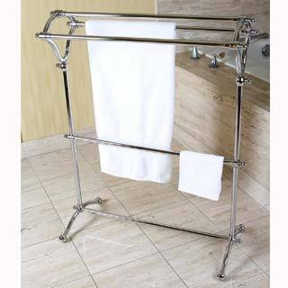 Pedestal Chrome BathTowel Rack