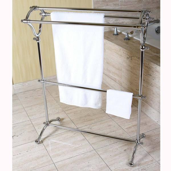 Pedestal Chrome BathTowel Rack