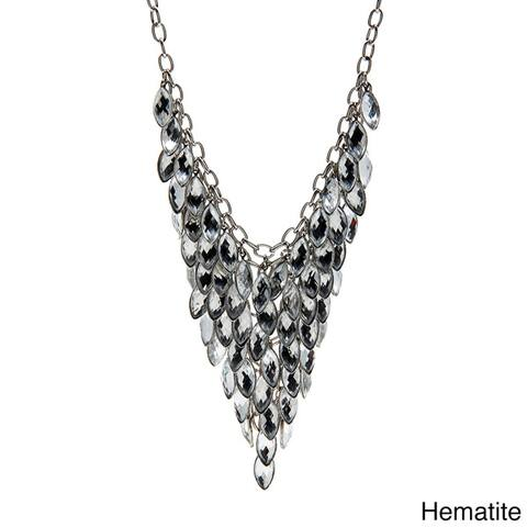 Alexa Starr Colored Lucite Bib Necklace