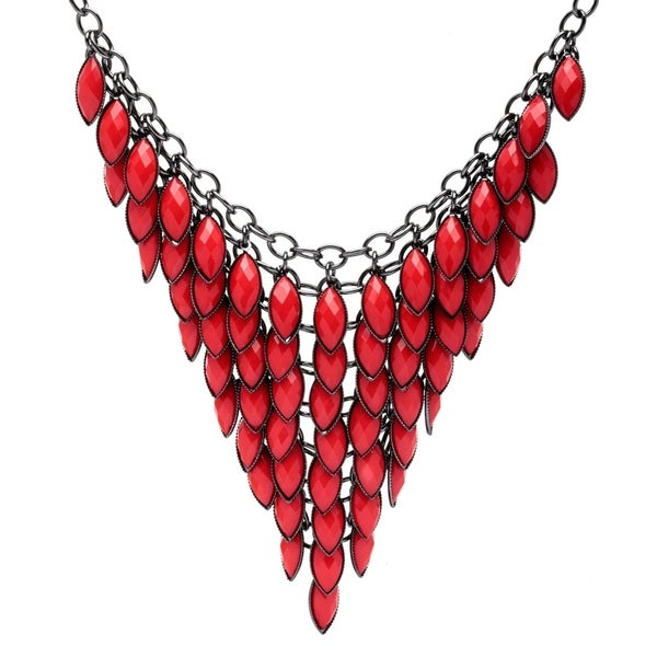 Colored Feceted Lucite Bib Necklace