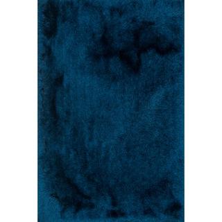 "Hand-tufted Sapphire Blue Shag Area Rug - 5' x 7'6"""
