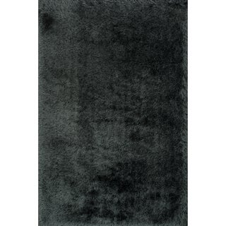 Hand-tufted Evelyn Graphite Shag Rug (3'6 x 5'6)