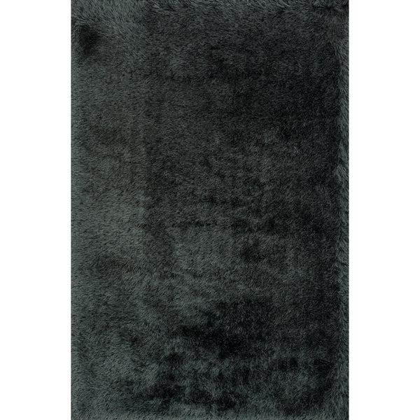Hand-tufted Evelyn Graphite Shag Rug (5'0 x 7'6)