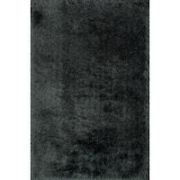 Hand-tufted Evelyn Graphite Shag Rug (5'0 x 7'6)