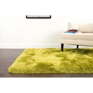Hand-tufted Evelyn Citron Shag Rug (5'0 x 7'6)