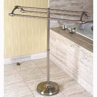 Pedestal Satin Nickel Towel Rack