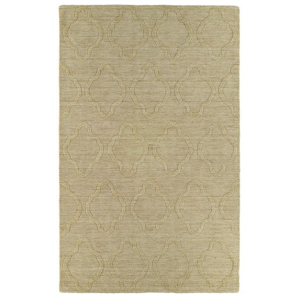Trends Yellow Prints Wool Rug - 8' x 11'