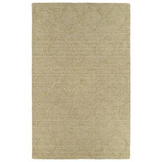 Trends Yellow Prints Wool Rug (8' x 11')